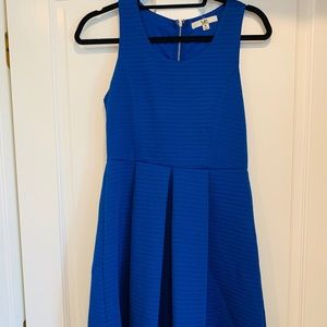 Blue dress with cut out back